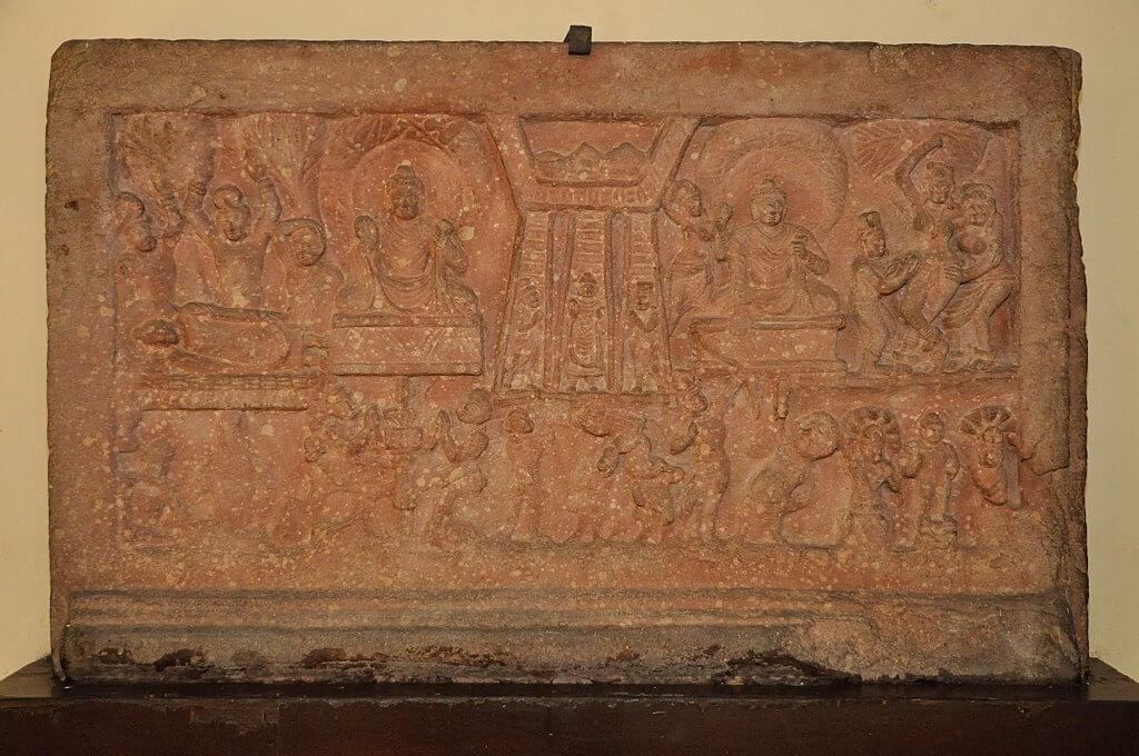 Descent from Heaven, 2nd century CE, Mathura